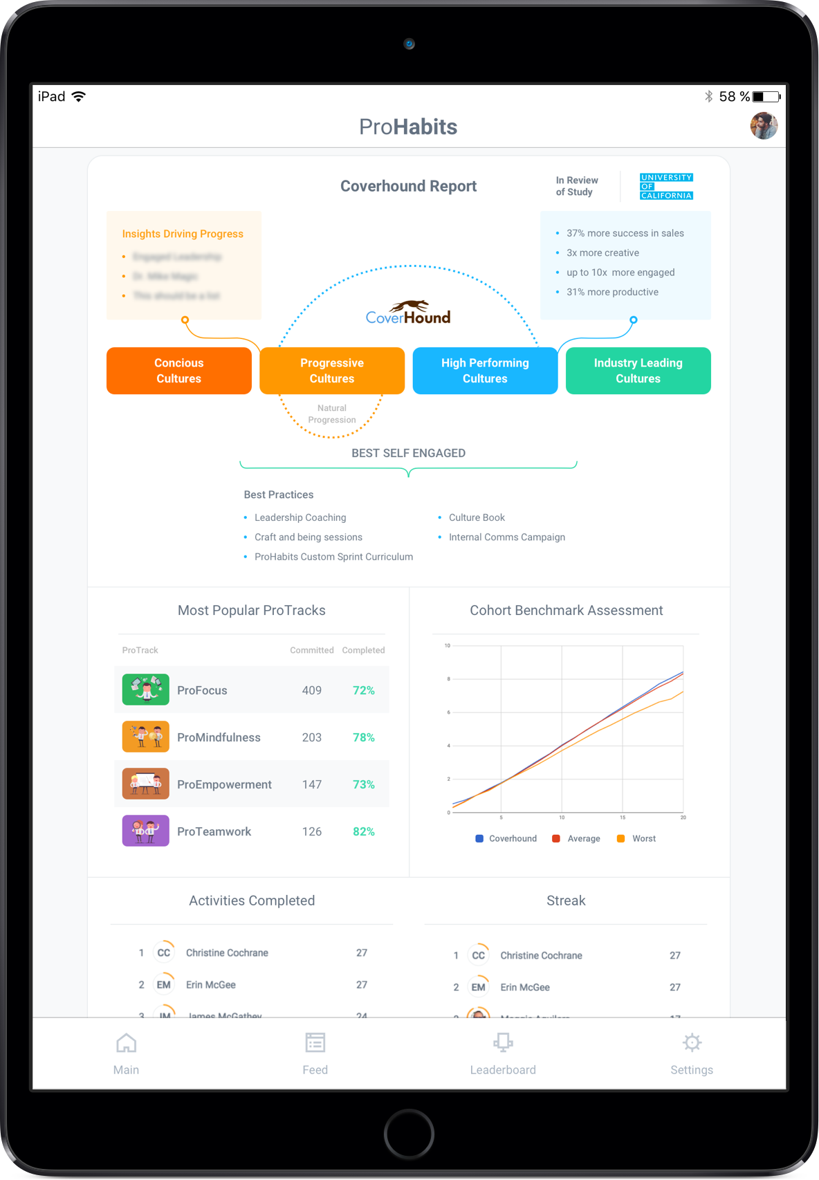 employee activities report dashboard